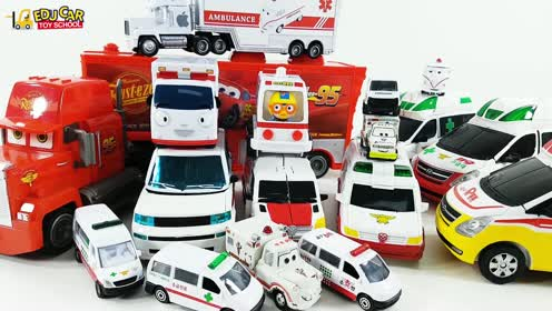 Special Disney Cars Lightning McQueen Mack Truck White Ambulance Play for kids car toys