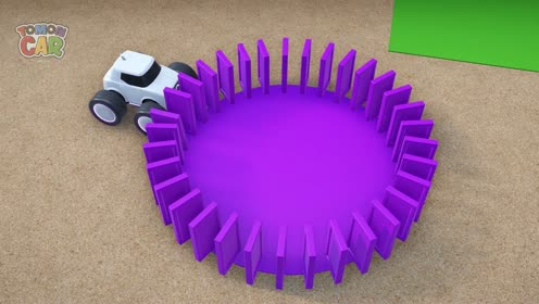 THE AMAZING DOMINOES   Car Story   Learn Shape For Kid   TOMONCAR World 토몬카
