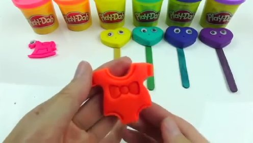 Learn Colors Rainbow Play Doh Dinosaur Animal Cookies Molds Lollipop Ice Cream Popsicle Clay